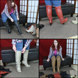 Scarlet Trying on Model Closet Boots #01