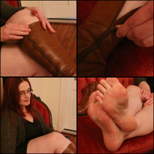 Scarlet Loves Teasing You with her Caramel Boots