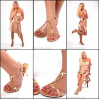 Picture Set: Alease in Strappy High Heel Sandals