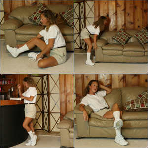 Laney in Knee Socks & Khaki Shorts