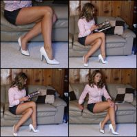 Tinsley in White High Heel Pumps