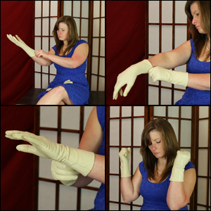 Daisy in Cream-Colored Unlined Leather Gloves