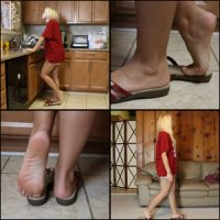 Brooke Shoe Dipping in Red Bass Sandals