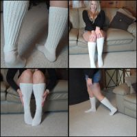 Rockell Starbux in Knee High Hooter Socks