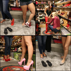 Cherry & Dakota Explore the Model Closet Shoes