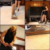 Tinsley Vacuuming with Kirby in Strappy Heels