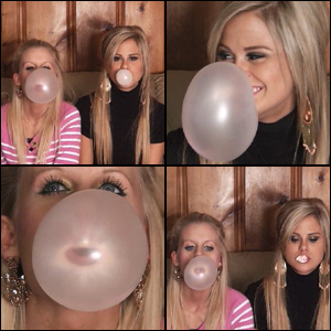 Barb & Riley Blowing Bubbles