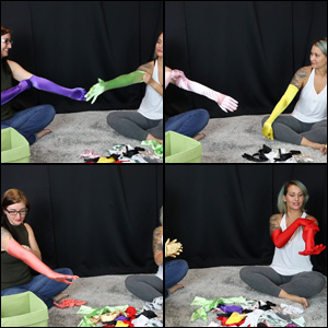 Natalie & Jane Try on All Satin Gloves