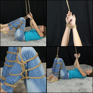 Laney Tied up in Jeans & Wedge Heels