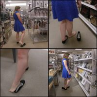 Daisy Shoe Dipping in Flats at Department Store