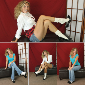 Picture Set: Laney in Socks with High Heels & Loafers