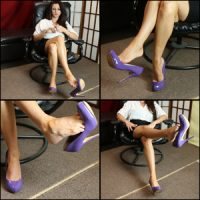 Star Dangling Purple Patent Pumps