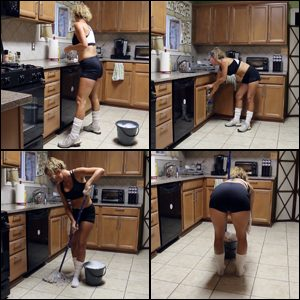 Laney Mops the Kitchen and Cleans You as Well