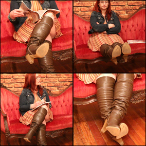 Looking for New Studio Space in Brown Knee Boots