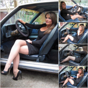 Picture Set: Tinsley Wearing Black Peep-Toes in Monte Carlo