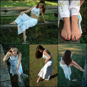 Picture Set: Pepper Barefoot Outside