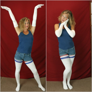 Picture Set: Laney in Satin Gloves & Thigh High Socks