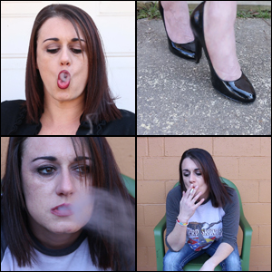 Rae Smoking 2 Cigarettes in 2 Outfits