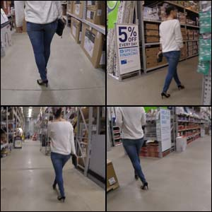 Shopping in High Heels at Home Improvement Store