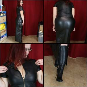My New Long, Soft Leather Skirt