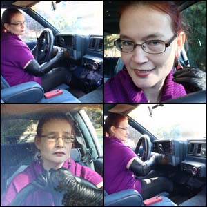 Scarlet's Cranking Surprise in Boots & Gloves
